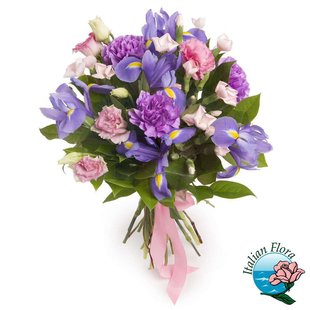 Fiori Viola Immagini.Bouquet Di Fiori Viola E Lilla