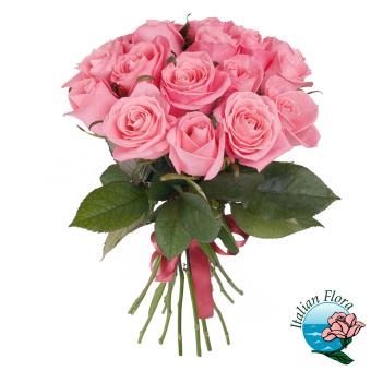 Bouquet di 12 Rose rosa