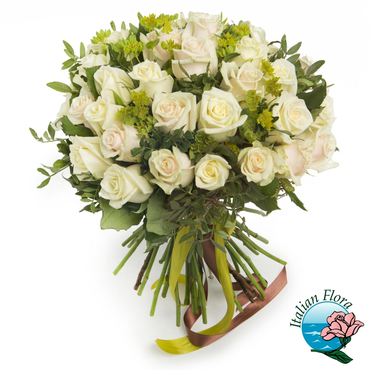 Bouquet di roselline avorio for Fiori stilizzati immagini