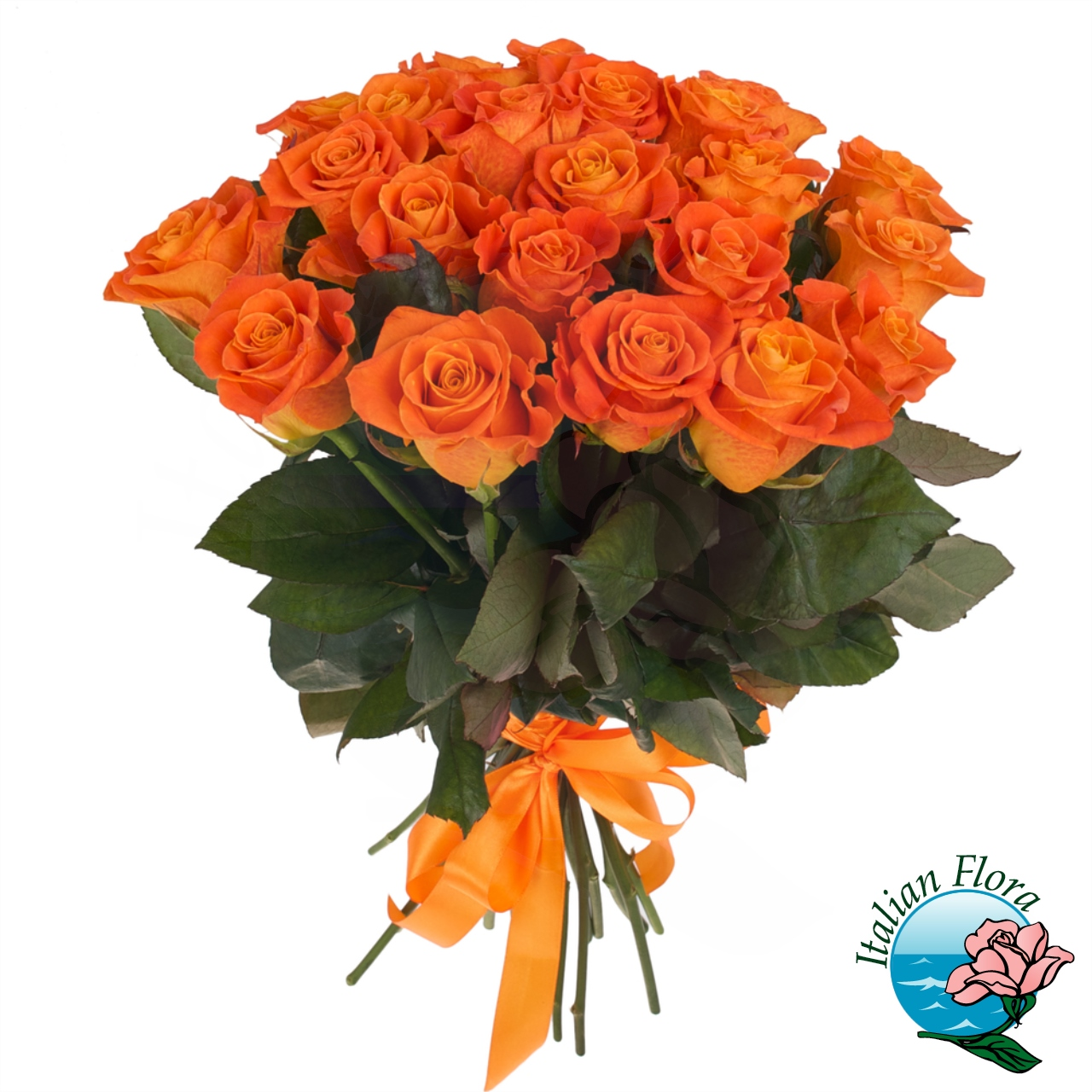 Bouquet con rose arancio