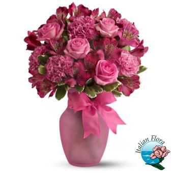 Composizioni floreali su italian flora consegna a domicilio for Lilium in vaso