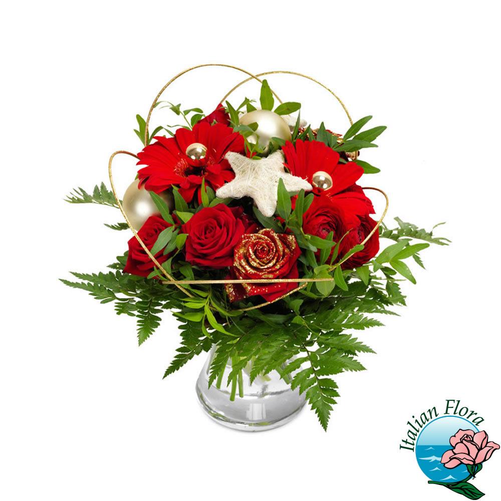 Immagini Di Fiori Natale.Bouquet Natalizio Di Fiori Rossi