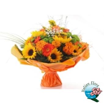 Bouquet floreale raffinato. Consegna in Italia.