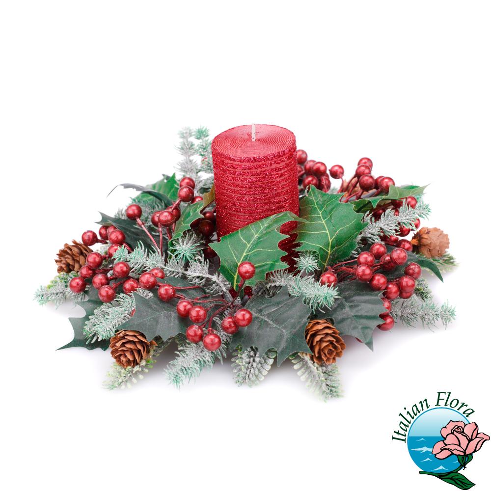 Centrotavola Natalizi Vendita.Centrotavola Di Natale Rosso