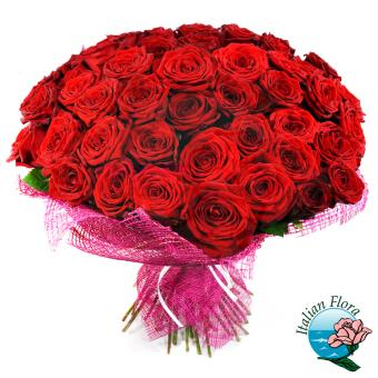 100 rose rosse a domicilio