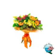 Bouquet raffinato. bouquet di fiori misti sui toni del giallo e
