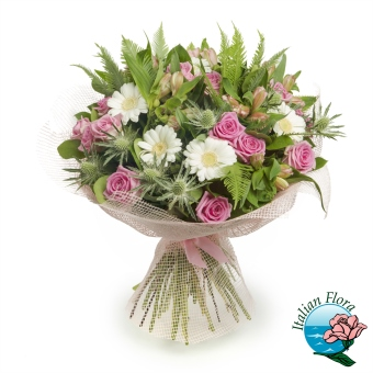Bouquet di margherite e rose